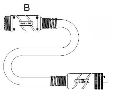 Kabel koaxiální prodlužovací 6 m